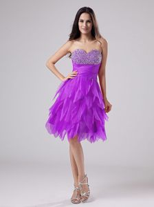 Sweetheart Beadings Graduation Dresses for 8th Grade in Ballater with Ruffles