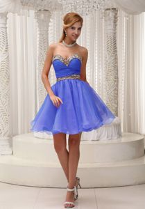 Ruched Bodice and Leopard Accent 5th Grade Graduation Dresses in Leuchars in Blue