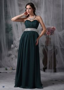 Dark Green Sweetheart Brush Train Graduation Dresses for College in Dumfries