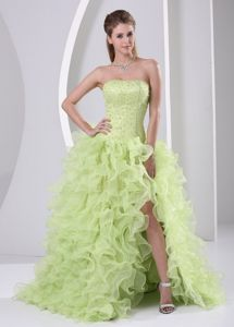 Halter College Graduation Dresses in Lochearnhead with Beading and Appliques