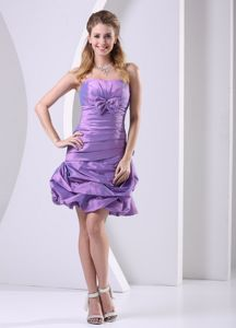 Taffeta Lavender Ruched and Bowknot Style 2013 Graduation Dress in Killin
