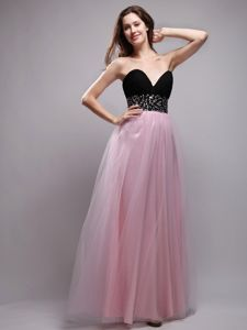 Sweetheart Baby Pink Style Eighth Grade Graduation Dresses in Allo with Beading