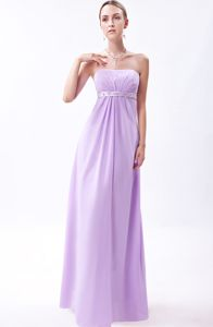 Strapless Embroidery Graduation Lavender Dresses for Middle School in Balmaha