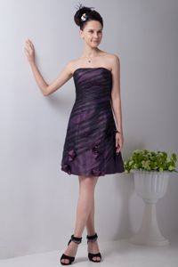 Purple Strapless Style Strapless 5th Grade Graduation Dresses in Selkirk with Flowers