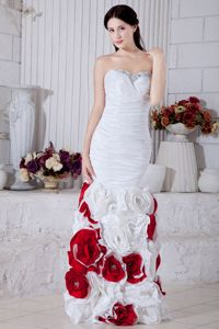 Sweetheart Beads and Flowers Style Graduation Dresses for 8th Grade in Coldstream