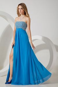 Empire Strapless Sequins Graduation Dresses for Grade 8 in Alford in Sky Blue