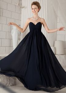 Black Empire Sweetheart Ruche Graduation Dresses for 8th Grade in Strathmiglo