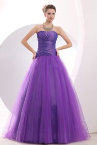 Purple Ruche A-line Sweetheart Graduation Ceremony Dresses in Newport-on-Tay
