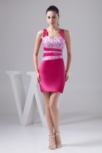 Beading and Lace Accent Eighth Grade Graduation Dresses in Kirkcaldy in Hot Pink