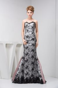 Black Sweetheart Strapless Floor-length Graduation Dresses for College in Glenrothes