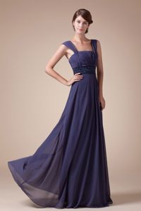 Square Neck Floor-length Purple Graduation Dresses for Middle School in Milford