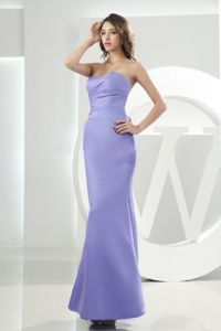 Mermaid Sweetheart Ankle-length Lilac Evening Dresses for Graduation in Porter