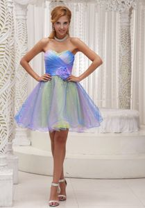 Lovely Multi-color Sweetheart Mini-length Graduation Dresses for High School