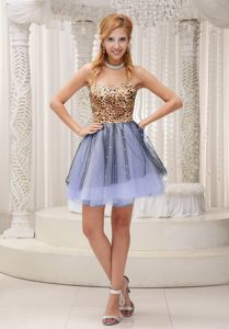 Sweetheart Mini-length 5th Grade Graduation Dresses in Multi-color with Pattern