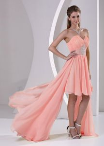 Gorgeous Pink Sweetheart High-low Graduation Dresses for Middle School