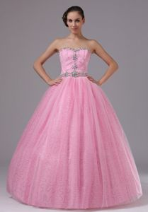Pretty Beaded Sweetheart Rose Pink Full-length Graduation Dresses in Katy