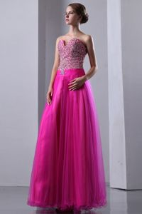 Fuchsia A-line Sweetheart Beaded Graduation Dress in London Ontario ON