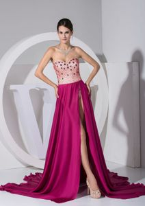 Slit Sweetheart Girl Grad Dresses with Court Train in Laval Quebec QC