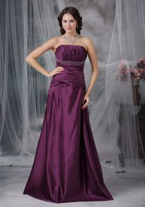 Dark Purple A-line Sweetheart Graduation Dress for High School in Franklin Grove