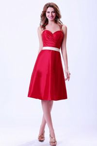 Sweetheart Knee-length Wine Red Graduation Dresses for High School in Wailuku