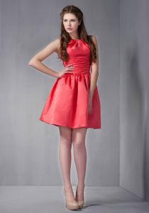 Pretty Red Scoop Mini-length Graduation Dresses for High School in Rockmart