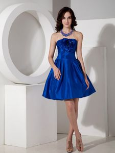 Royal Blue Strapless Graduation Dress for High School in Mini-length in Wilton