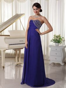 Beading Decorated and Sweetheart School Summer Party Dress in Purple in Dover