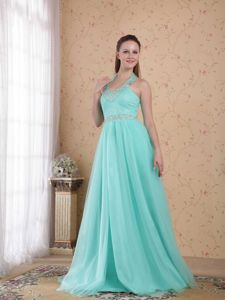 Beading School Spring Party Dress Popular Light Blue Empire Halter Tulle from Dover