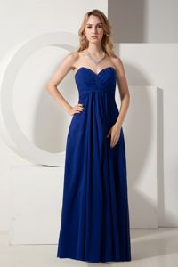 Royal Blue Empire Sweetheart Beading School Summer Party Dress Chiffon in Iowa