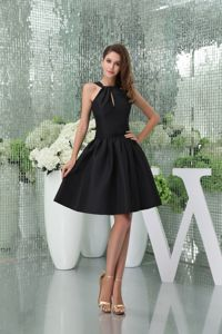 A-line Black Cutouts College Graduation Dresses in Dunblane for Elegantance