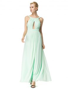 Pretty Turquoise Quince Ball Gowns Prom and Party with Ruching Scoop Sleeveless Backless