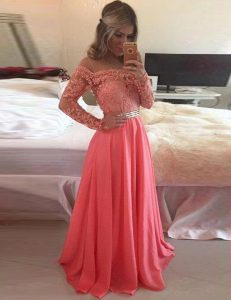 Scoop Long Sleeves Zipper Floor Length Beading and Appliques Sweet 16 Quinceanera Dress