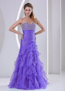 Ruffles Sweetheart Beads and Ruche Graduation Dresses for Girls in Callander