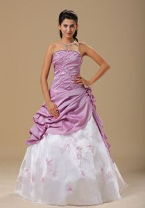 Ruched and Hand Made Flowers Embroidery Style Graduation Dress in Killearn