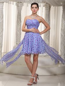 Beautiful Sweetheart Printed Ruched High-low Graduation Dresses in Mount Gambier