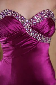 Ruched Sweetheart Beading Fuchsia College Gettysburg Graduation Dress