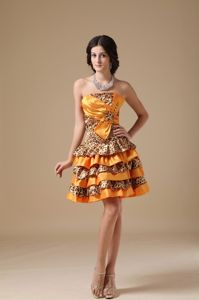 Leopard Multi-colored Layered Senior Graduation Dress in Philadelphia