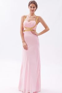 Sequins Straps Baby Pink Ruched The Woodlands Graduation Dresses 2014