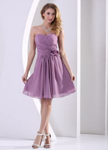 Customize Sweetheart Knee-length Graduation Dresses for 8th Grade in Purple