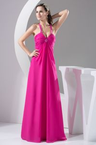 Straps Hot Pink with Beadings Eighth Grade Graduation Dresses in Selma