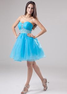 Beading Organza Sweetheart Mini-length A-Line Grad Dress in Northport