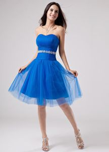 A-Line Knee-length College Graduation Dresses in Normal Beading Accent