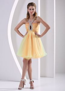 Colorful Beaded Straps Ruched Cute Graduation Dress in Santa Clara