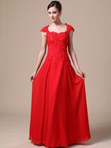 Lace Square Red Prom Graduation Dresses in South San Francisco