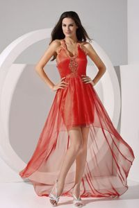 Nevada Halter and Embroidery 2013 Graduation Dresses in High-low