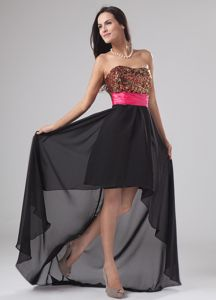 Maine Paillette and Sequins Graduation Dresses in A-Line and High-low