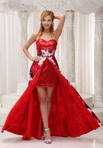 South Carolina Sequins and Printing Graduation Dress with Sweetheart