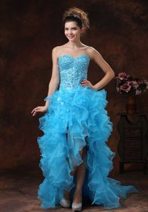 Aqua Blue for 2013 Grad Dress with Beaded and Ruffles In Jefferson