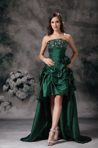 South Carolina Green Beading Bust for High-low Graduation Dresses