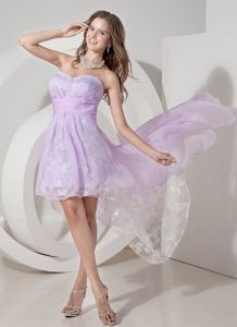 Lilac Princess 5th Grade Graduation Dresses Designed High-low